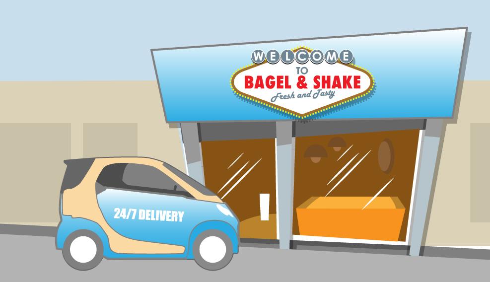 Bagel&Shake illustration